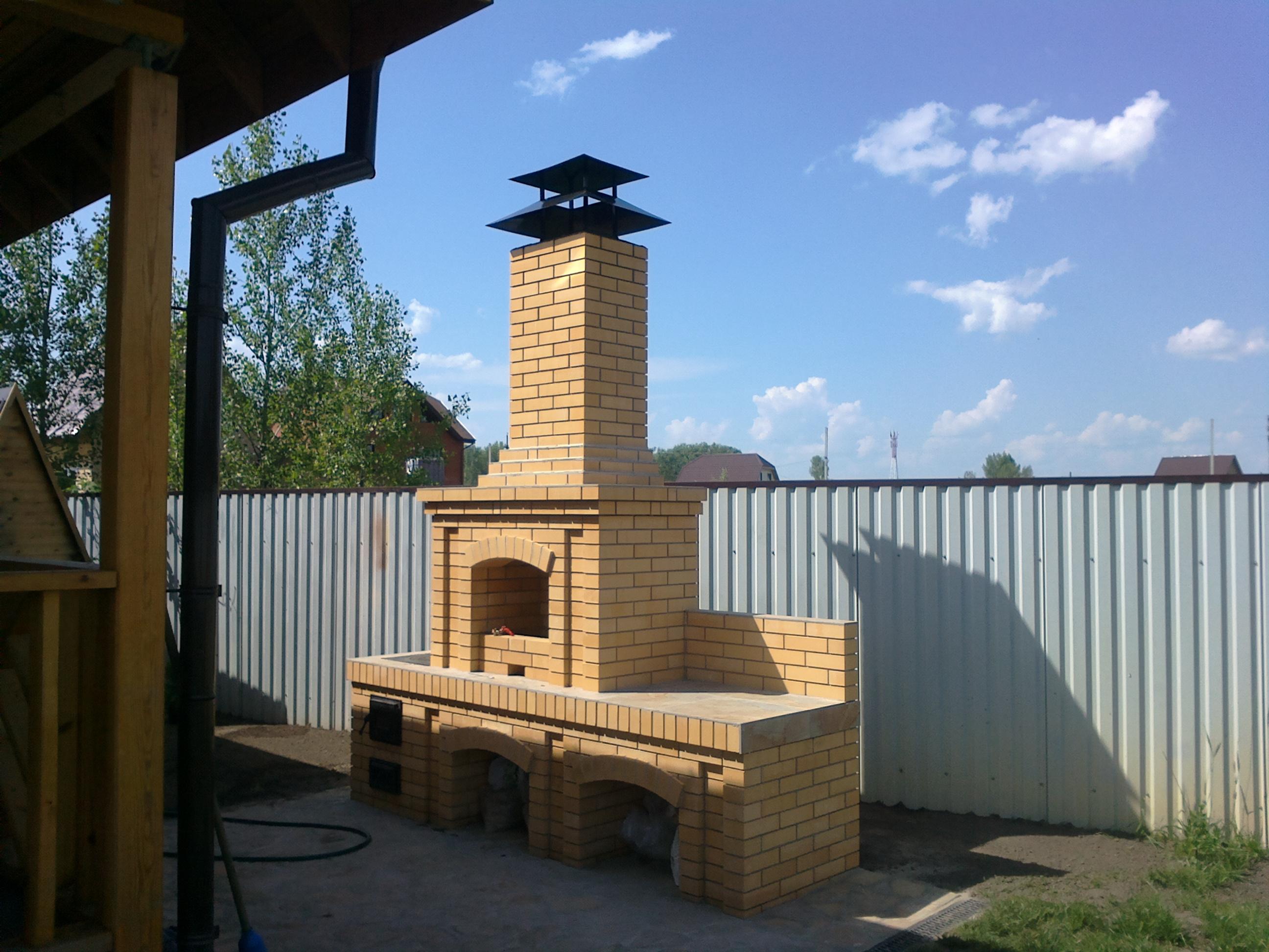 Строительство барбекю комплекса в Новосибирске.
