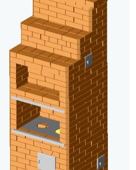 Отопительно-варочная печь «Шведка» на 2 этажа-min