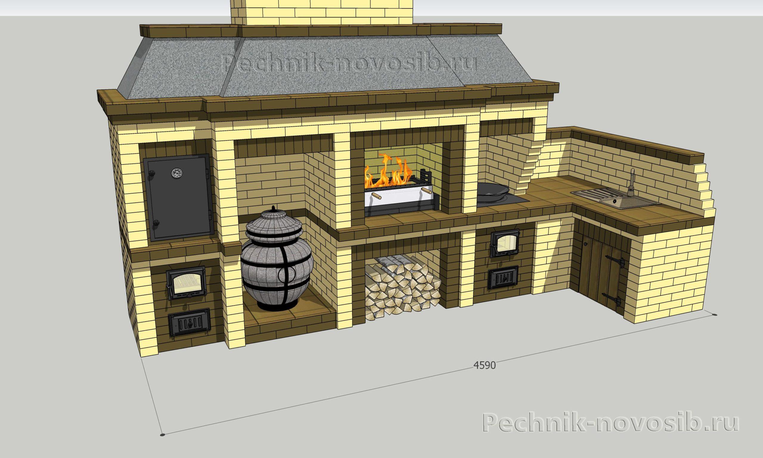 Купить проект барбекю комплекса
